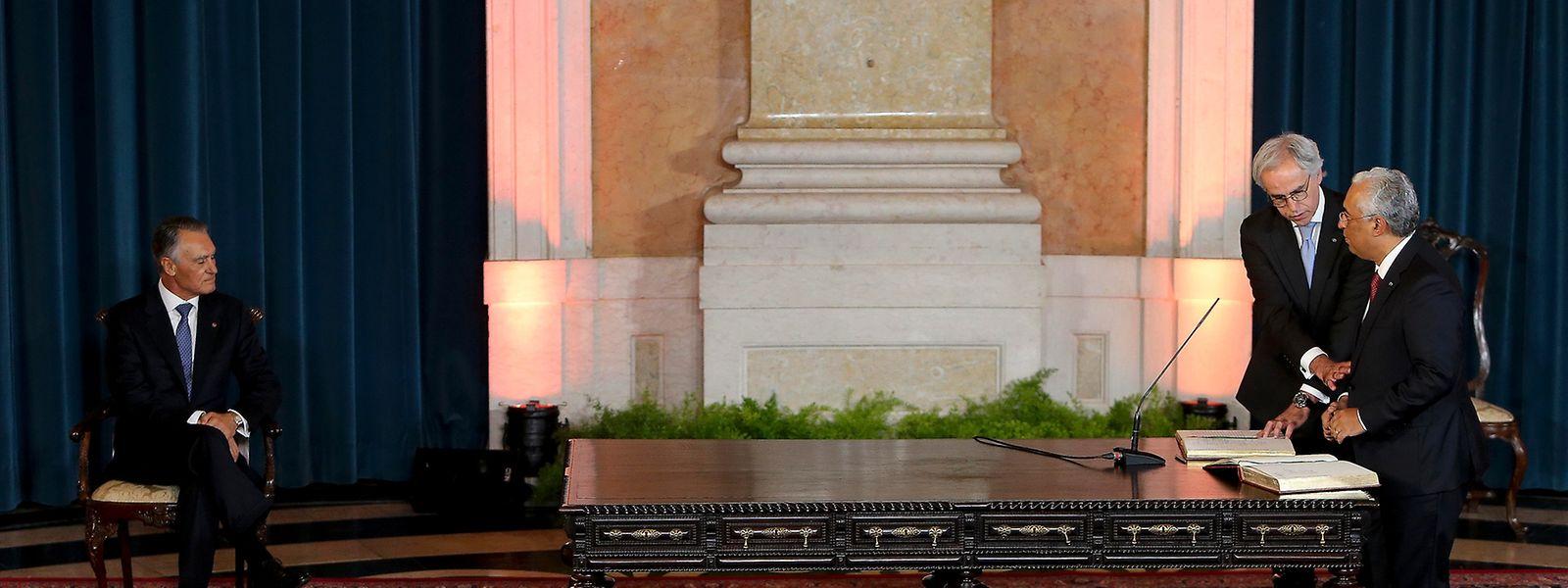 O primeiro-ministro, António Costa durante a cerimónia de tomada de posse do XXI Governo Constitucional