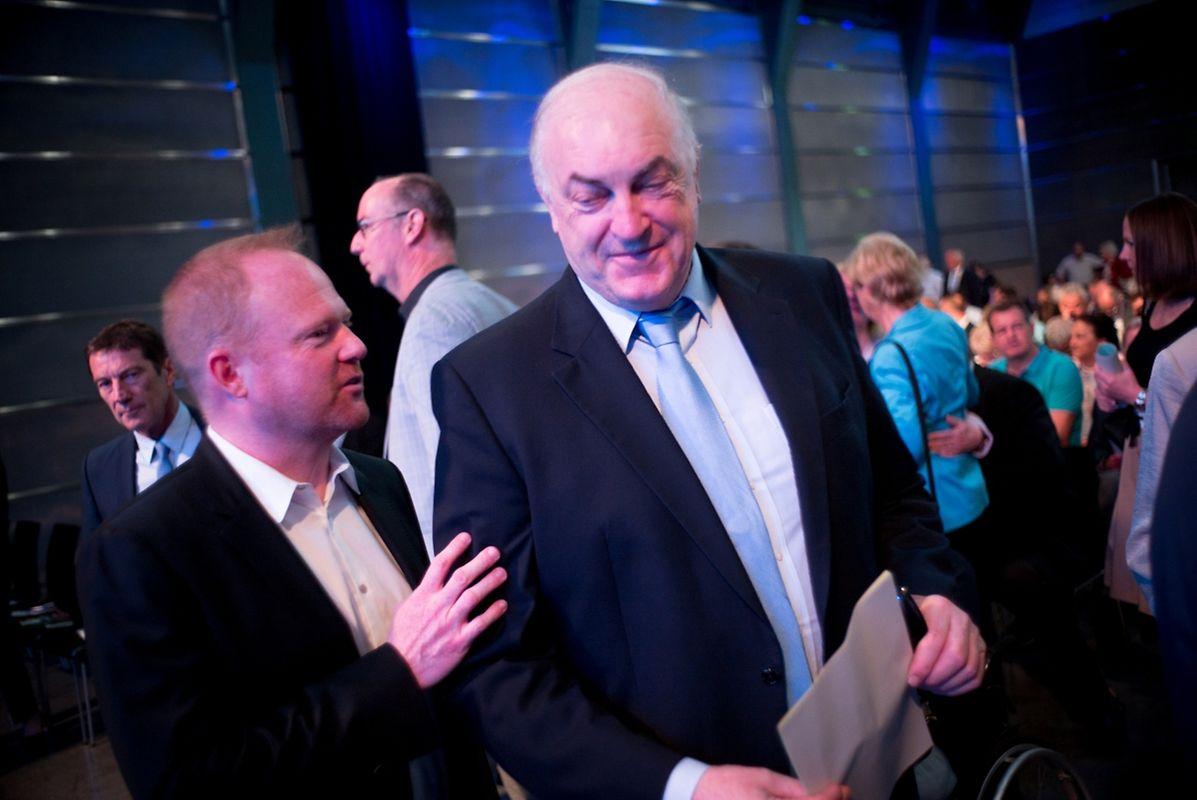 Der EU-abgeordnete Charel Goerens zusammen mit Generalsekretär Claude Lamberty.