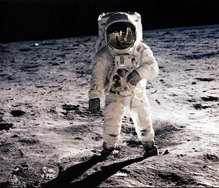 -- RESTRICTED TO EDITORIAL USE --<br />TO GO WITH AFP STORIES : SPACE-MOON-ANNIVERSARY<br />(FILES) -- Picture taken on July 20, 1969 shows astronaut Edwin E. Aldrin Jr., lunar module pilot, walking on the surface of the moon during the Apollo 11 extravehicular activity (EVA). Astronaut Neil A. Armstrong took this photograph with a 70mm lunar surface camera. With one small step off a ladder, commander of the Apollo 11 mission Neil Armstrong of the US became the first human to set foot on the moon on July 20, 1969, before the eyes of hundreds of millions of awed television viewers worldwide. With that step, he placed mankind's first footprint on an extraterrestrial world and gained instant hero status.<br />  AFP PHOTO / NASA