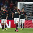 Football - PSV Eindhoven v Manchester United - UEFA Champions League Group Stage - Group B - Philips Stadion, Eindhoven, Netherlands - 15/9/15 Manchester United's Anthony Martial and team mates look dejected after Hector Moreno (not pictured) scored the first goal for PSV Action Images via Reuters / Andrew Couldridge Livepic EDITORIAL USE ONLY.