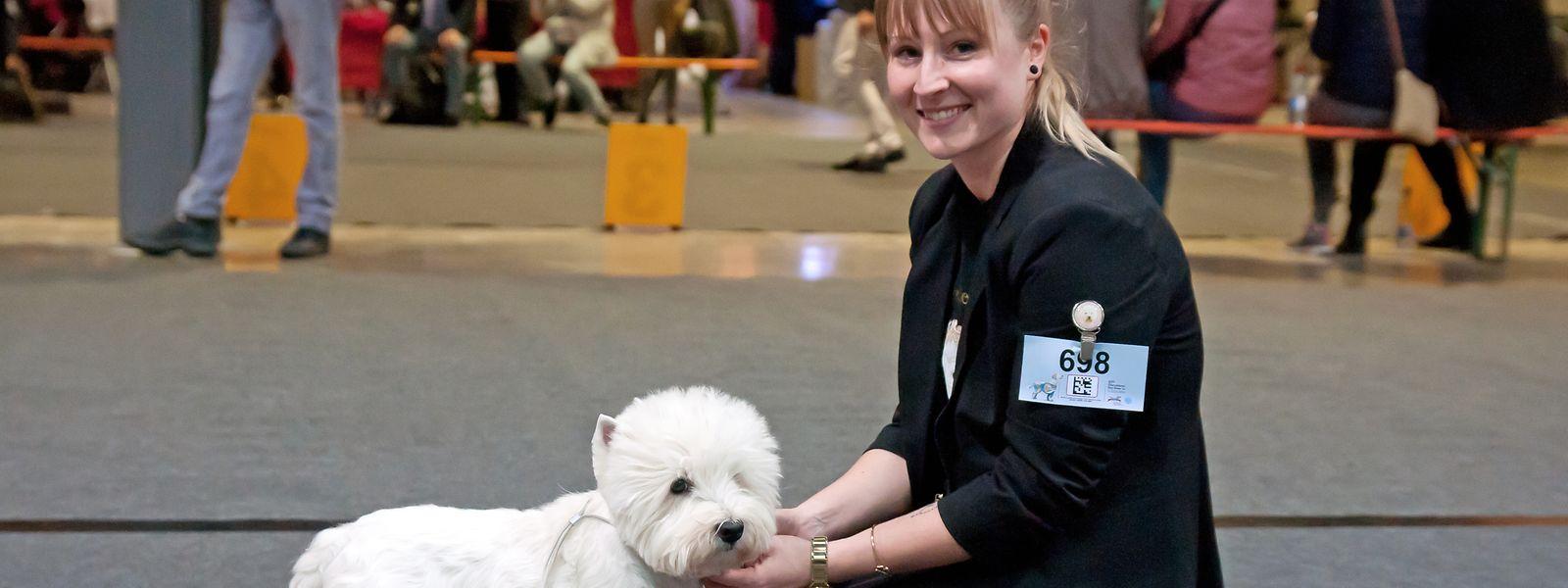 La 97e exposition internationale canine qui s'est tenue ce week-end, a attiré de nombreux amis des chiens.