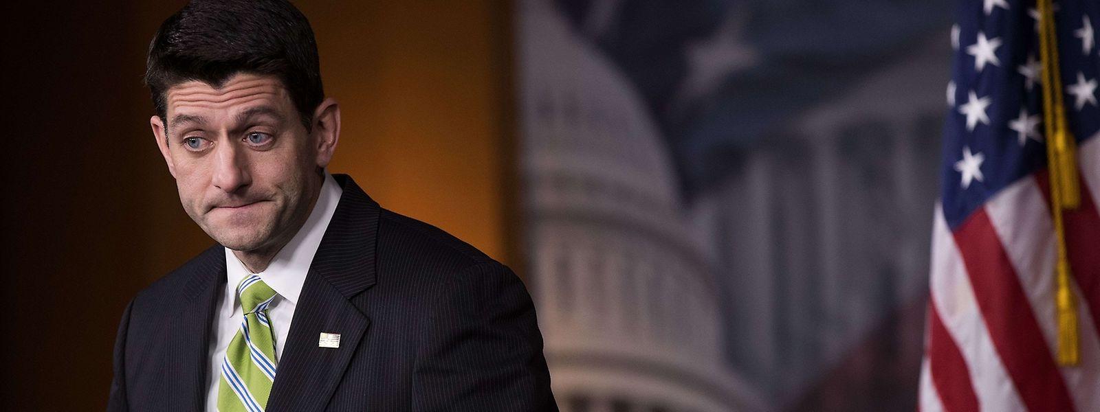 Entscheidende Figur: Paul Ryan, der Sprecher des US-Repräsentantenhauses, sagte die Abstimmung ab - auf Trumps Bitte, wie es heißt.