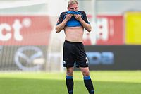 Paderborn's Luxembourgers defender Laurent Jans reacts after the German first division Bundesliga football match SC Paderborn vs TSG Hoffenheim in Paderborn, western Germany, on May 23, 2020. (Photo by Friso Gentsch / POOL / AFP) / DFL REGULATIONS PROHIBIT ANY USE OF PHOTOGRAPHS AS IMAGE SEQUENCES AND/OR QUASI-VIDEO