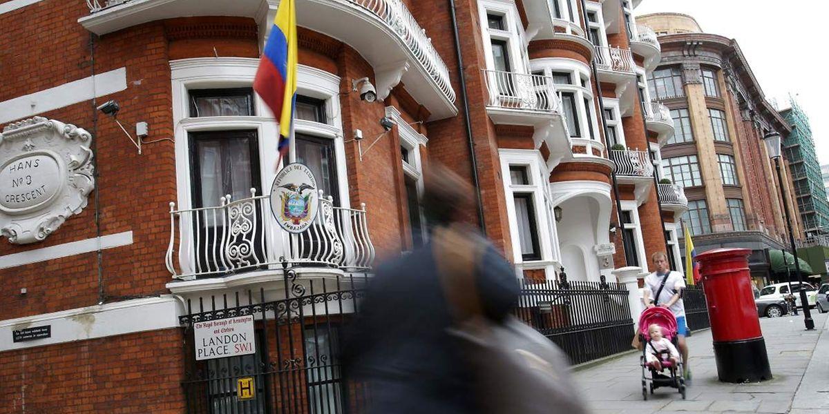 In der ecuadorianischen Botschaft in London verbringt Assange nun schon fast vier Jahre.