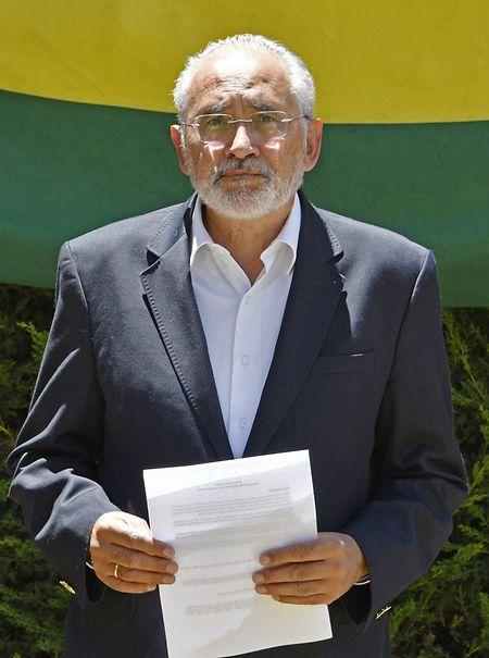 Carlos Mesa, Spitzenkandidat der Partei Comunidad Ciudadana.