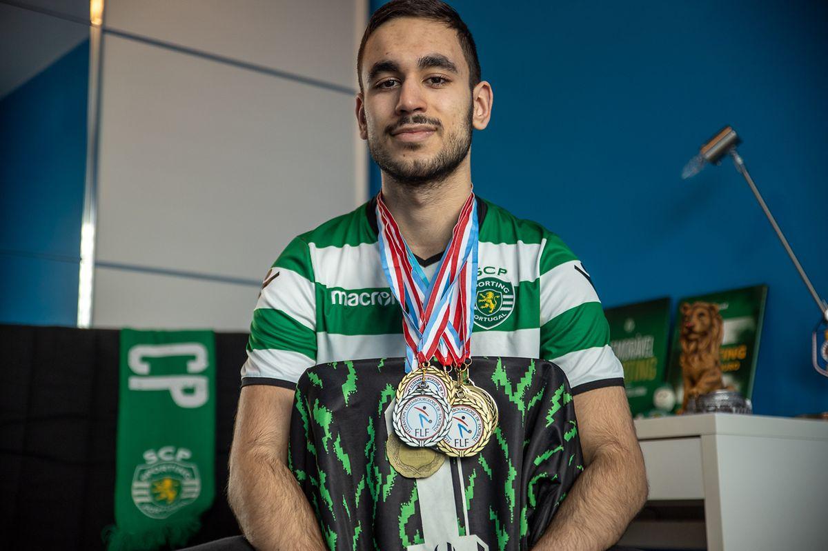 Lucas Rodrigues foi campeão nas camadas jovens luxemburguesas. Mas o sonho é jogar no Sporting.