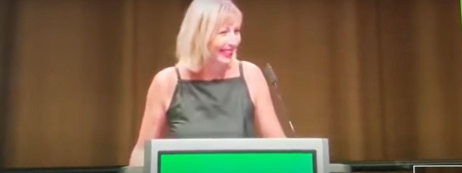 Nicht ihr stärkster Moment: Irina Gaydukova muss bei klassisch grünen Themen passen.