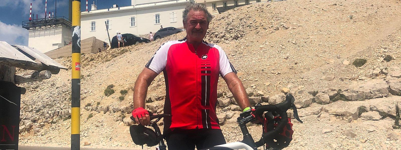 Außenminister Jean Asselborn auf dem legendären Mont Ventoux.