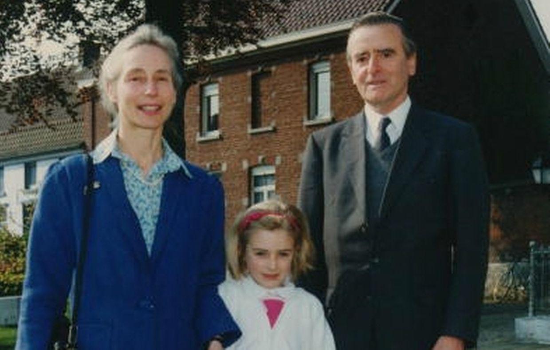 Stéphanie de Lannoy lors de sa communion en 1991 à Avaing