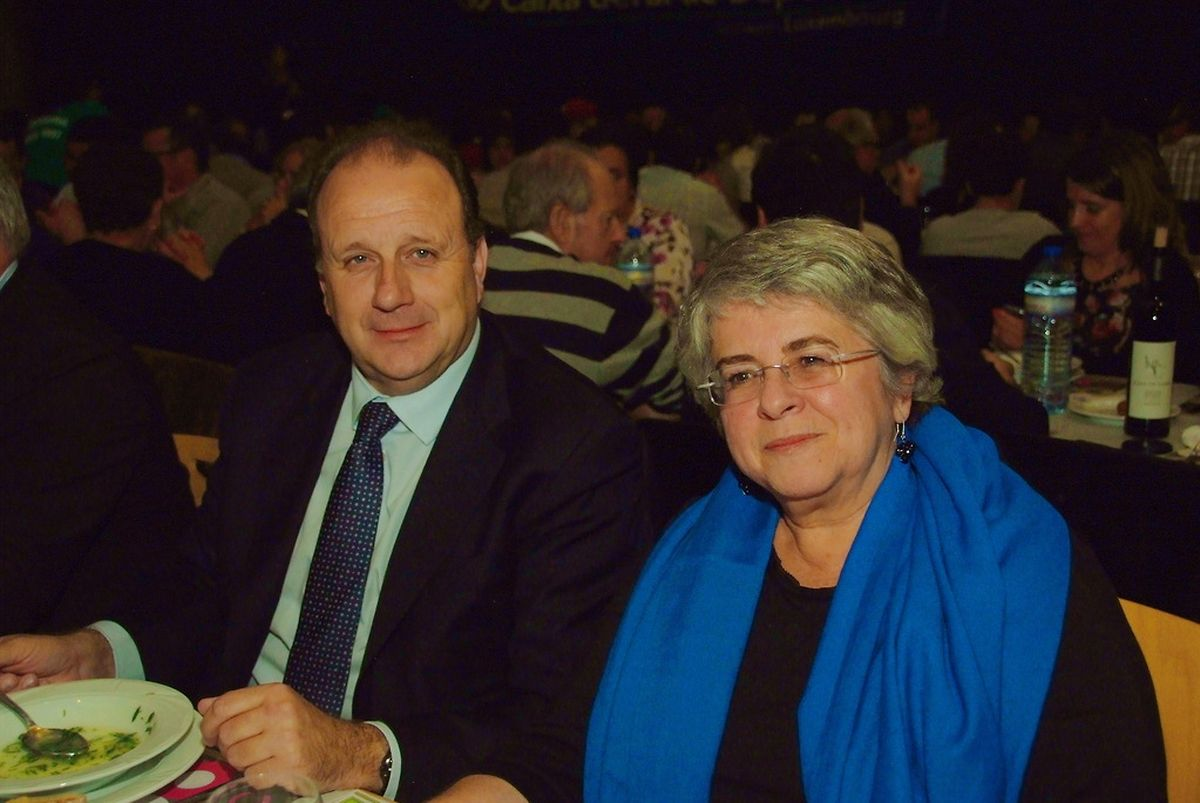 O deputado do PSD Carlos Gonçalves e a Embaixadora de Portugal Maria Rita Ferro