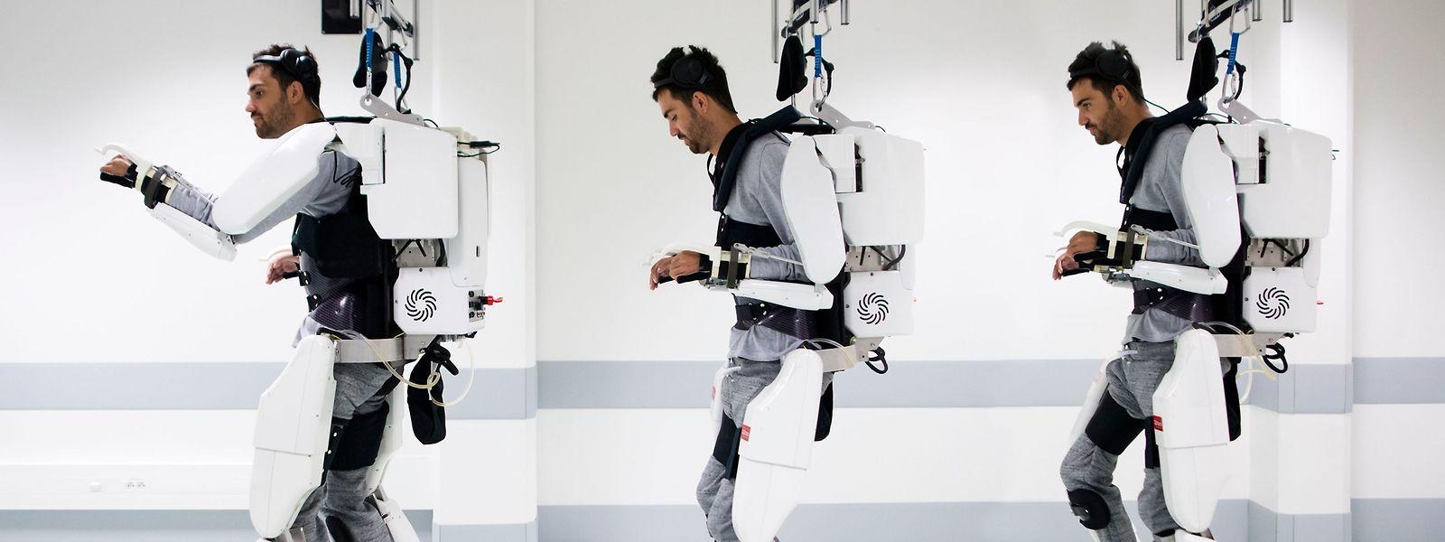 Pour maîtriser ses mouvements, il a fallu de longs mois au malade testeur de cette innovation.