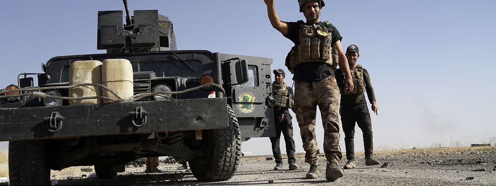 Die irakischen Einheiten kommen schneller voran als geplant.