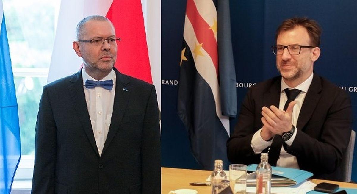 Conrad Bruch, à esquerda, e Thomas Barbancey, à direita.
