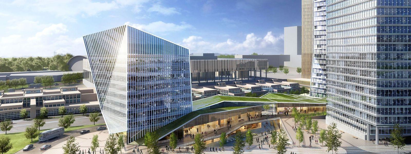 """An der """"Porte de l'Europe"""" soll ein Mix zwischen Wohnungen, Büros, Geschäften und Restaurants entstehen."""