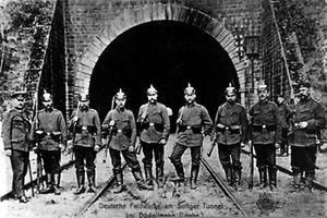 Deutsche Feldwache beim Zoufftger Tunnel in Düdelingen