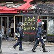 Le fameux restaurant Le Fouquet's a été incendié lors des émeutes samedi.