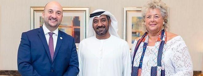 Fin octobre, Étienne Schneider et Maggy Nagel sont allés peaufiner la participation luxembourgeoise à Dubaï2020 avec le cheikh Ahmed Bin Saeed Al Maktoum, président du Comité supérieur d'Expo 2020 Dubaï