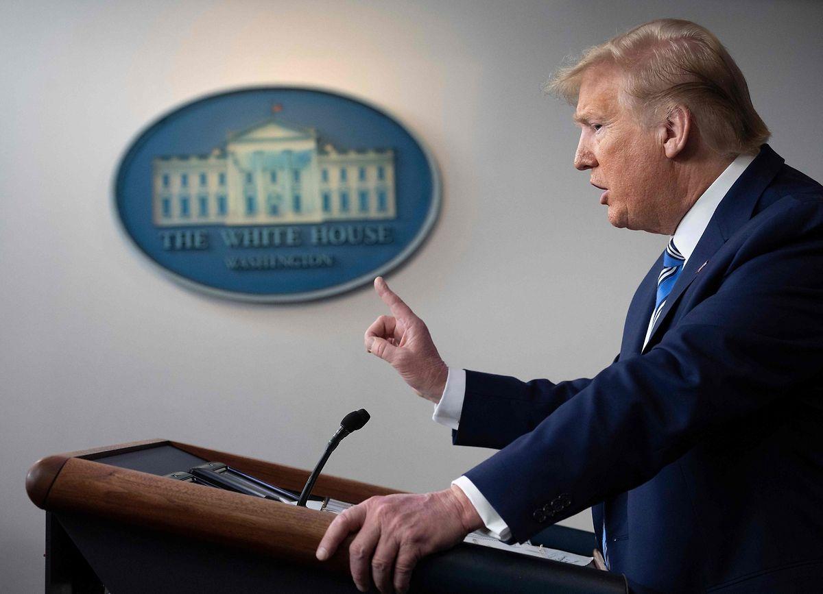Donald Trump zeigt Verständnis für Demonstranten, die ein Ende der Ausgangsbeschränkungen fordern.