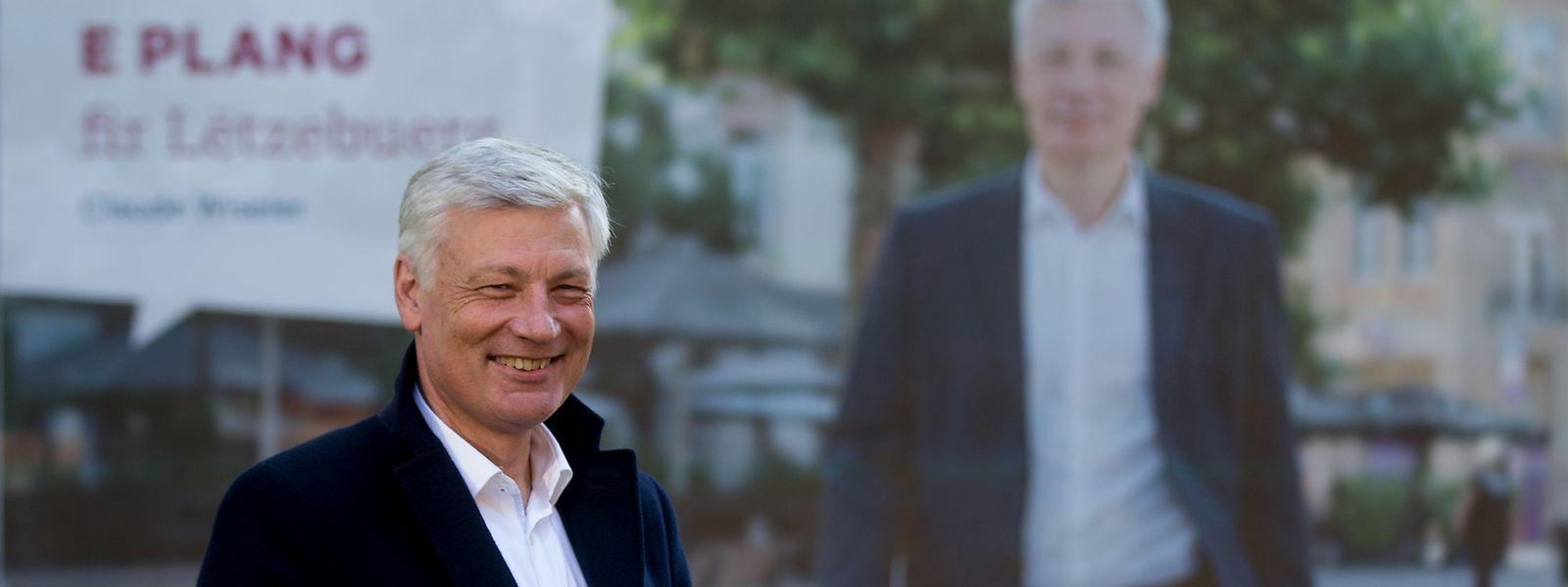 Claude Wiseler während der Wahlkampagne.
