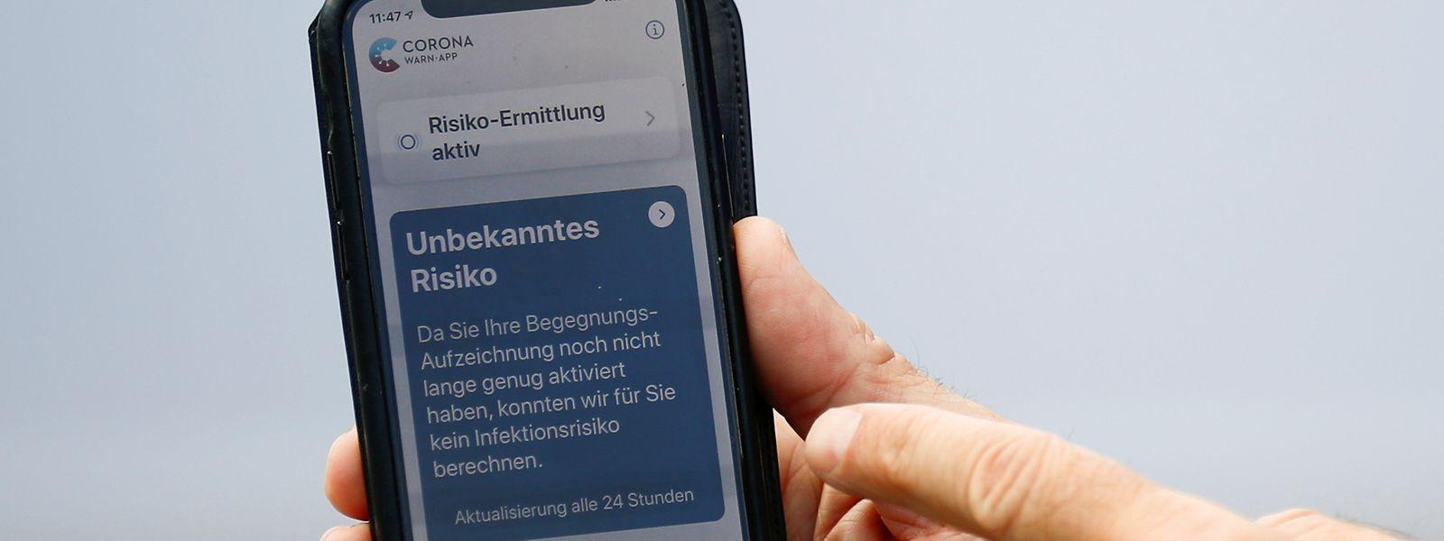 Die deutsche Corona-Warn-App ist seit letzter Woche auch in Luxemburg erhältlich.