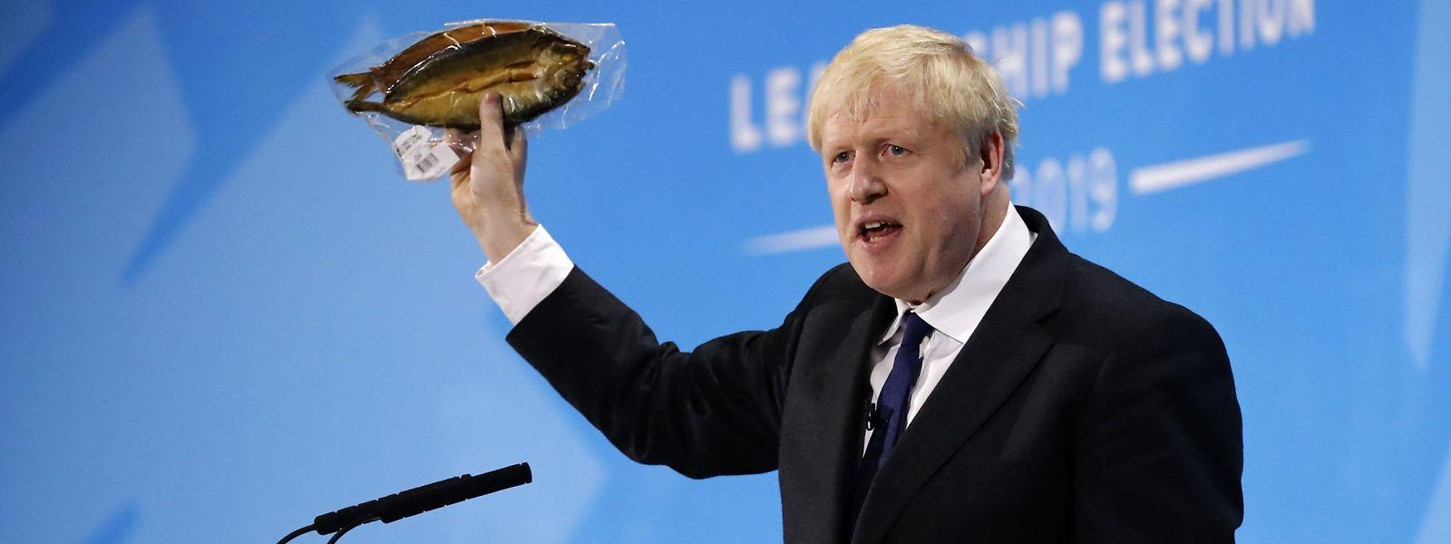 Fishing for Compliments: Der konservative Anwärter für das Amt des britischen Premierministers, Boris Johnson.