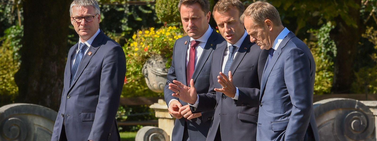 Xavier Bettel mit seinen Amtskollegen in Salzburg.