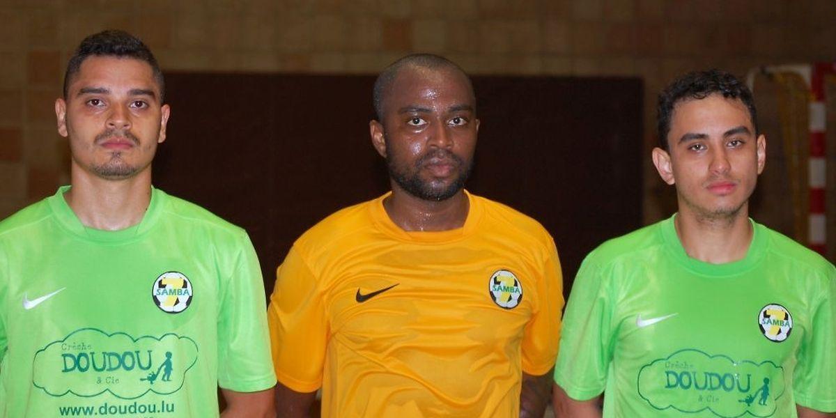 Lucas Santiago, Jonattan Vinicius et Vicente Santiago espèrent convaincre les responsables du Samba Seven.