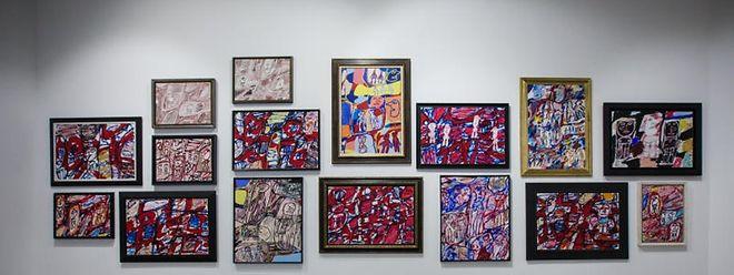 Ingesamt mehr als 45 Werke Dubuffets werden in der Galerie Zidoun-Bossuyt ausgestellt.