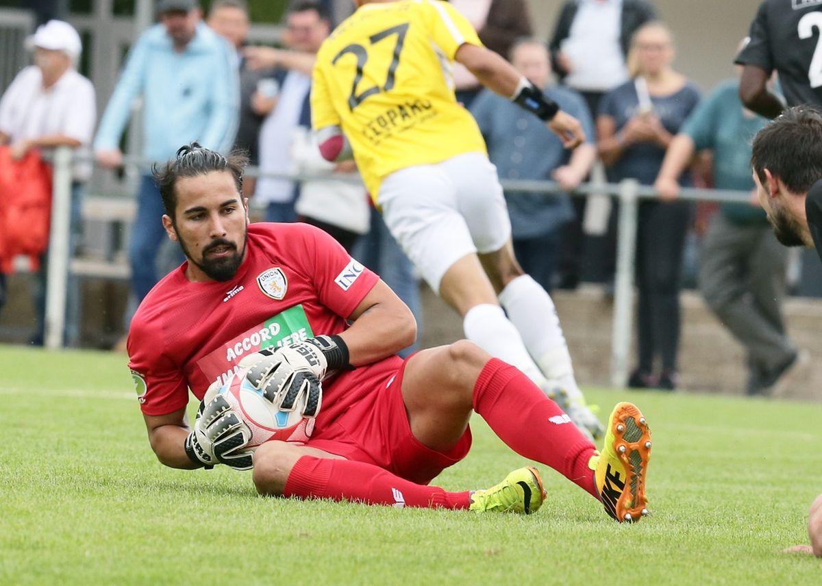 01 Fussball BGL Ligue 2017-17 zwischen Union Titus Petingen und F91 Dudelingen am 21_08_2016 Miguel PALHA (30 UTP)