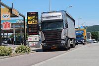 Tankstellen in Wasserbillig, Lastwagen Transit
