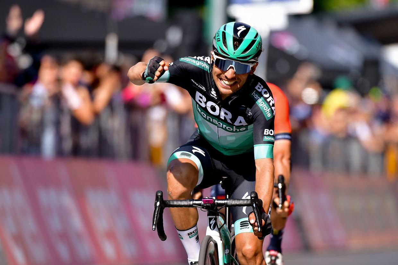 Cesare Benedetti (I/Bora) holt den dritten Tagessieg für das Bora-Team.