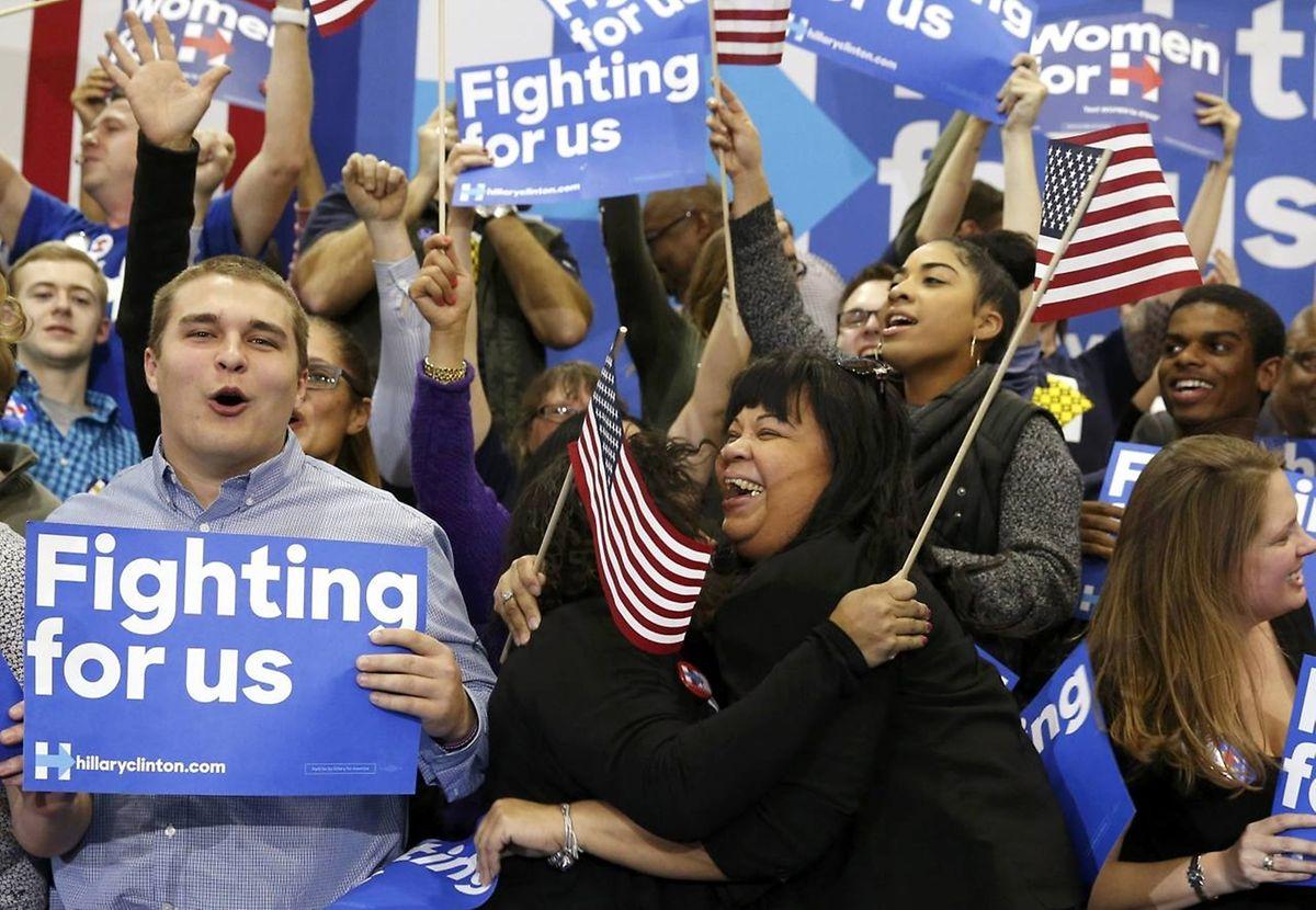 Auch für die Anhänger von Hilary Clinton waren die Vorwahlen in South Carolina eine wichtige Etappe.
