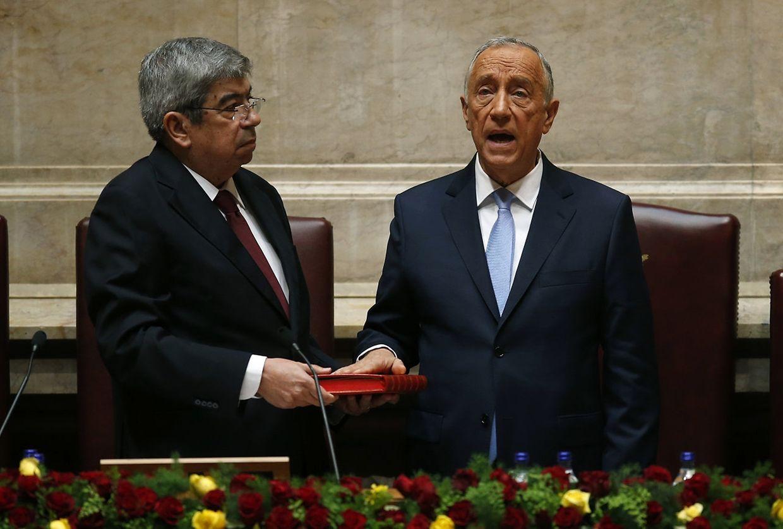 Momento de juramento do novo Presidente da República