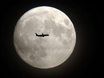 Photo de «Super Lune» prise le 14 novembre 2016 près de Heathrow.