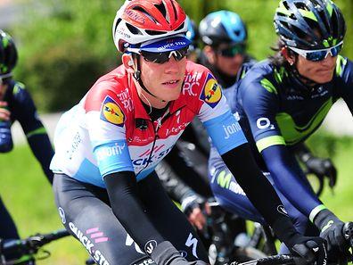 Bob Jungels (Quick-Step) auf der 1. Etappe der Tour de Romandie - Foto: cyclingpix