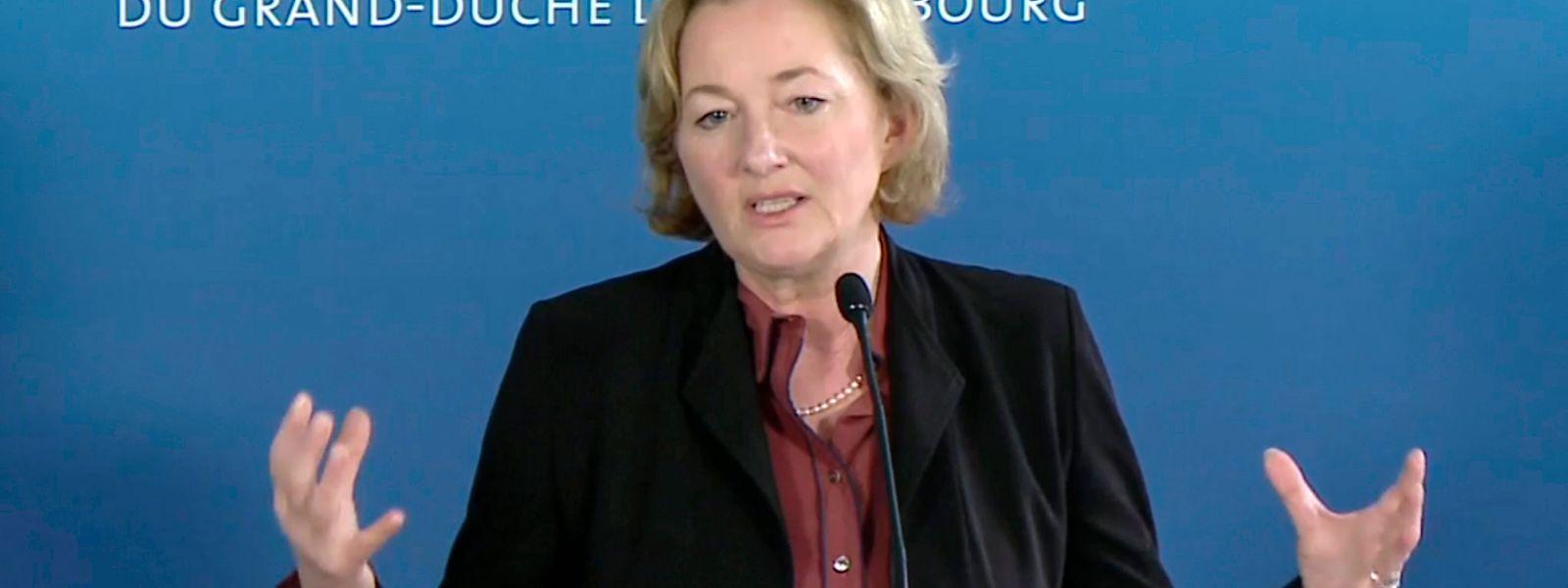 La ministre de la Santé, Paulette Lenert annonce le pic infectieux d'ici 14 jours