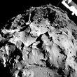 """Blick in die Vergangenheit des Alls: der Komet """"Tschuri"""" aus nächster Nähe."""