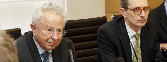 Claude Marx und François Moyse vom Consistoire Israélite de Luxembourg erklärten den Ausschussmitgliedern ihre Sicht der Dinge.