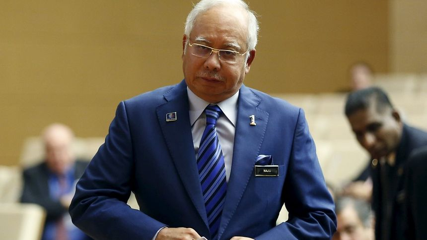 Malaysia's Prime Minister Najib Razak, shown here preparing to make a speech at the new World Bank offices in Kuala Lumpur, Malaysia, on Monday.