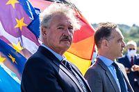 Jean Asselborn, hier mit seinem deutschen Amtskollegen Heiko Maas auf der Grenzbrücke, hält den Schengen-Raum für essenziell.