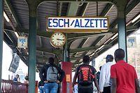 18.10. Esch / Alzette / Gare , Bahnhof , CFL / TICE  Foto:Guy Jallay