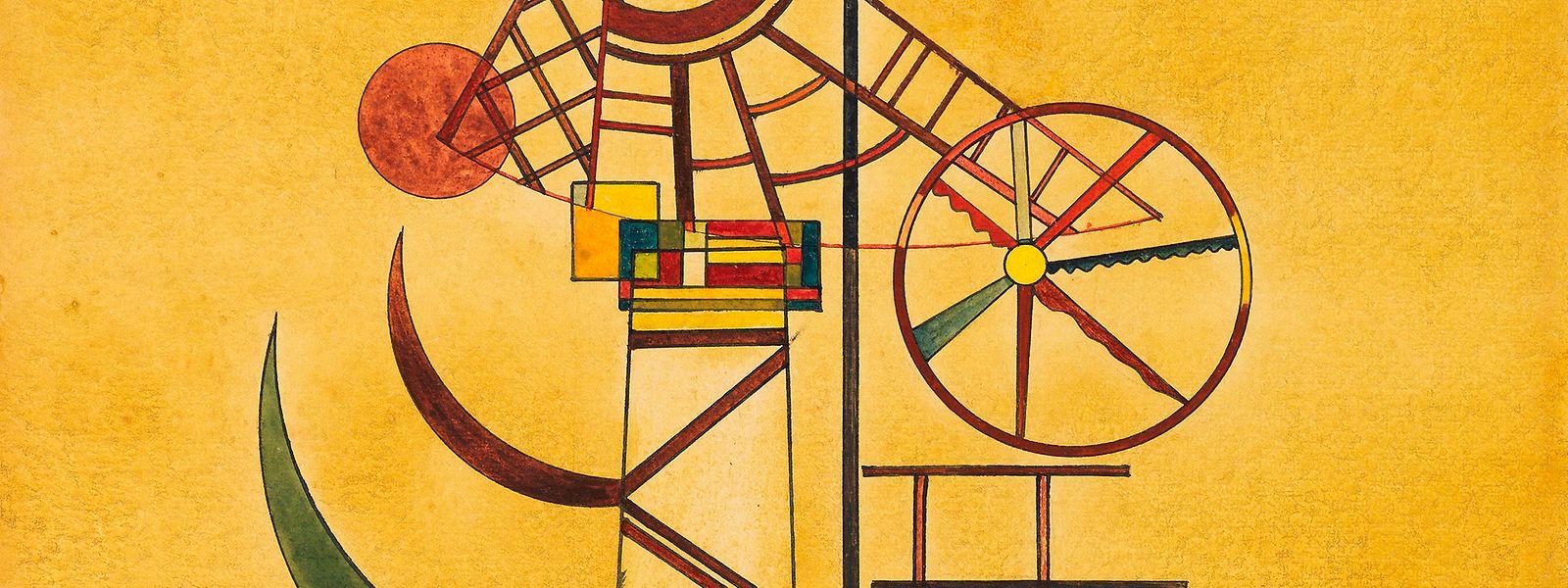 """Das Kunstwerk """"Gebogene Spitzen"""" des russischen Malers Wassily Kandinsky ist undatiert. Das Werk war mehr als 70 Jahre verschollen."""