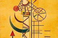HANDOUT - 17.05.2021, Bayern, München: Das Kunstwerk «Gebogene Spitzen» des russischen Malers Wassily Kandinsky (undatiert). Das Werk, das mehr als 70 Jahre verschollen war, ist bei einer Auktion in München versteigert worden. Für 1 250 000 Euro ging es an einen Sammler aus dem Raum Berlin, teilte das Münchner Kunst-Auktionshaus Ketterer mit. Experten hatten die Arbeit Kandinskys zunächst auf 300 000 Euro geschätzt. Foto: Marc Autenrieth/Auktionshaus Ketterer Kunst/dpa - ACHTUNG: Nur zur redaktionellen Verwendung im Zusammenhang mit einer Berichterstattung über die Auktion und nur mit vollständiger Nennung des vorstehenden Credits +++ dpa-Bildfunk +++
