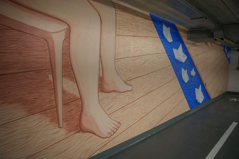 Zwölf Werke von sechs Künstlern sind im Parkhaus zu sehen.