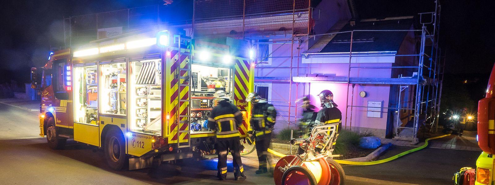 Die Feuerwehr aus Hesperingen war mit 16 Mann vor Ort im Einsatz.