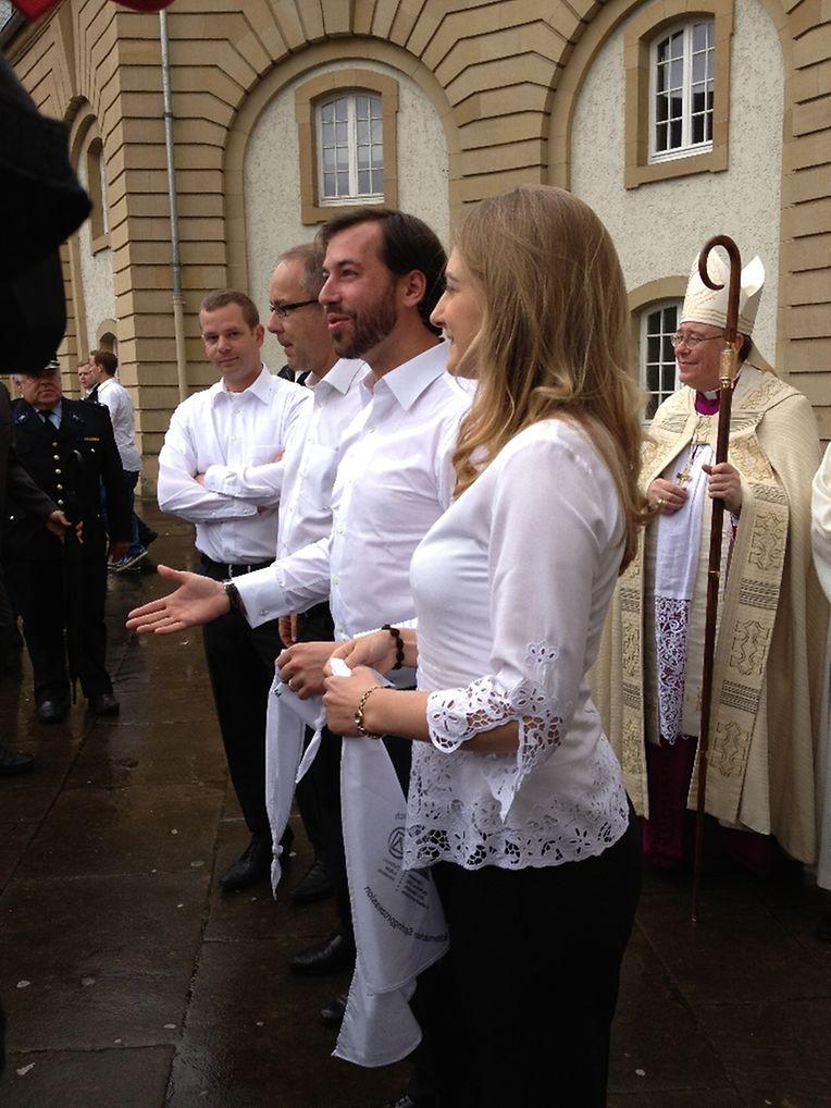 Le grand-duc héritier Guillaume et son épouse Stéphanie ont participé à la procession