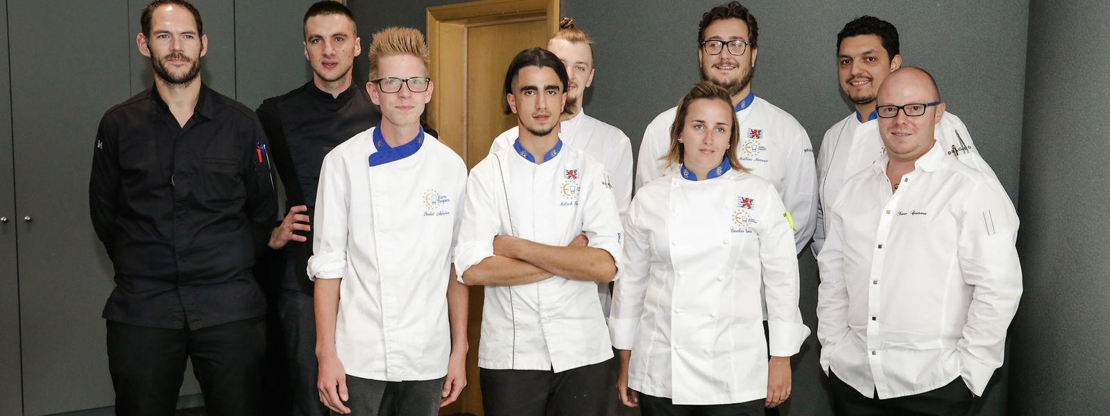 Les Jonk Chefs Euro-Toques avec Yann Castano (à dr.).