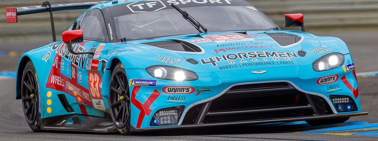 Dylan Pereira und seine Teamkollegen landen mit dem Aston Martin Vantage AMR in der GTE-AM-Klasse auf Platz zwei.