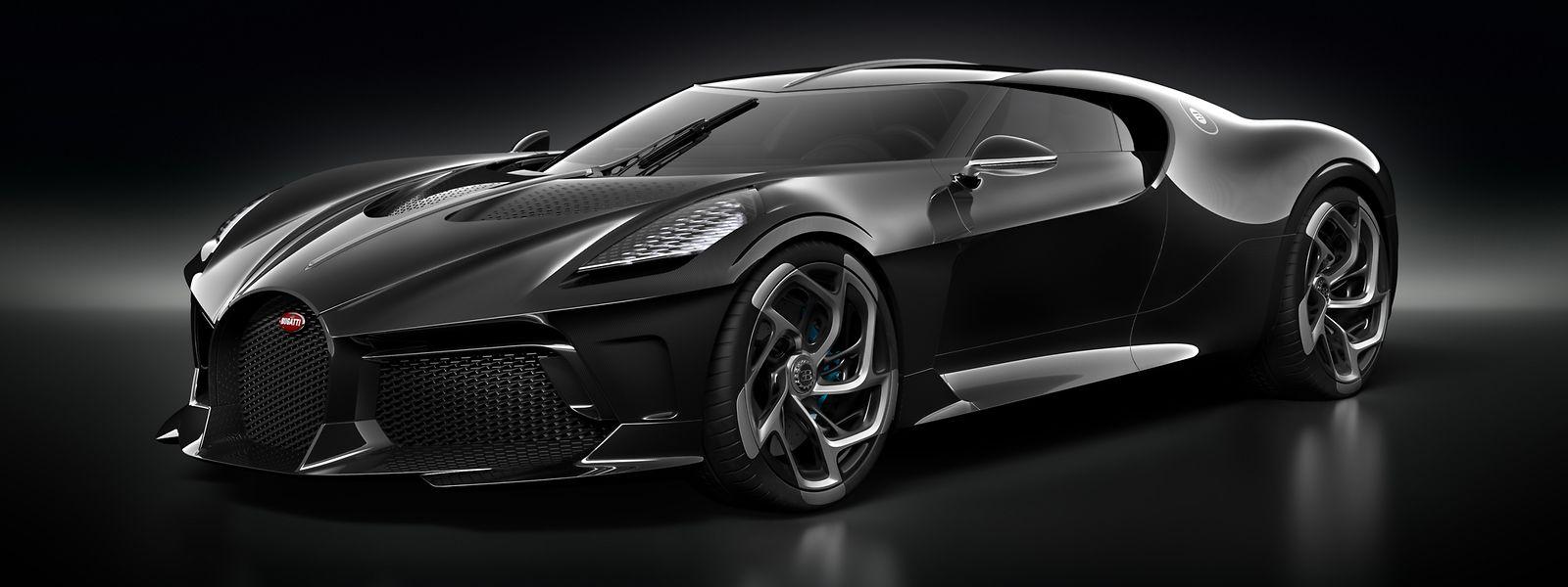 Das schwarze Auto: Der Bugatti La Voiture Noire ist ein 1500 PS starkes Einzelstück und kostet rund 16 Millionen Euro.