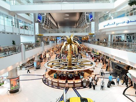 Inside one of the Dubai International Airport terminals